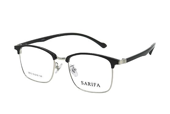 Gọng kính, mắt kính Sarifa 3510 (53-18-148) nhiều màu chính hãng - Bạc208.000đ(- 60 %) gốc 520.000 đồngMàu sắc :    Bạc,Vàng,Xám,ĐenChất liệu plastic và hợp kim Titanium bền đẹp.Trọng lượng nhẹ, ôm sát gương mặt thoải mái.Thiết kế dáng tròng bo cong thanh lịch và dễ mang.Gọng phù hợp để lắp kính cận thị, viễn thị, loạn thị.Dễ phối với nhiều trang phục thường ngày.