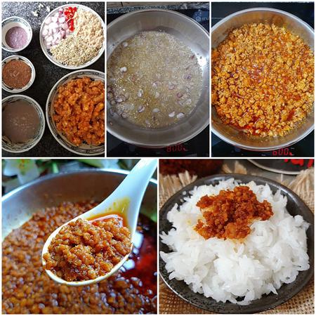 Thịt chưng mắm tép là món ăn quen thuộc được nhiều người ưa thích vì dễ làm, ăn ngon và đưa cơm. Ảnh: Bùi Thủy