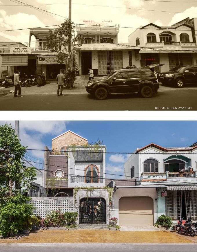 Căn nhà trước và sau cải tạo.