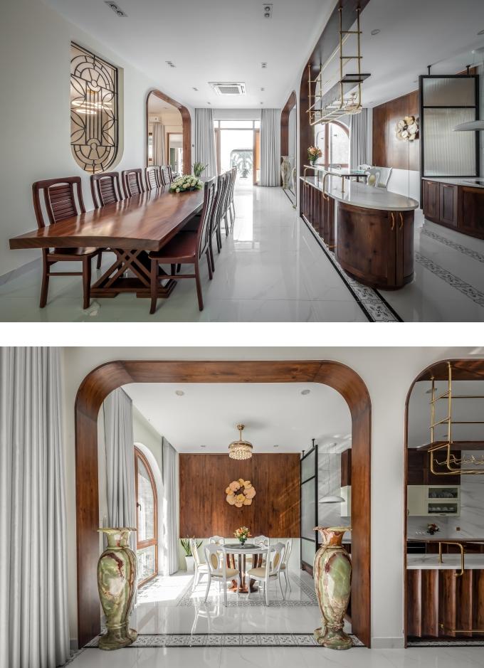 Nội thất ngôi nhà được thiết kế hiện đại xen lẫn nét truyền thống Á Đông.