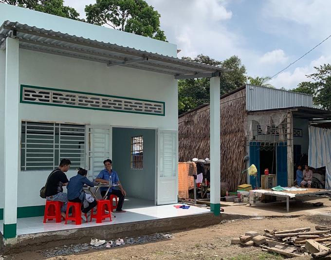 Một căn nhà tình thương hơn 60 triệu mà Thắng cùng cộng đồng chung tay xây dựng cho hộ nghèo. Ảnh: Nhân vật cung cấp.