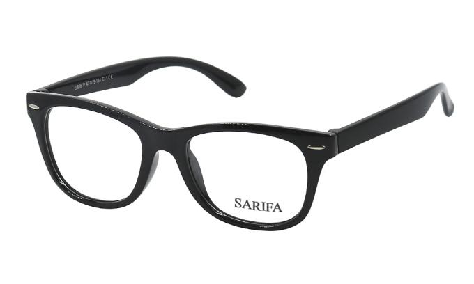 Gọng kính Sarifa Kids S886 C11 dành cho trẻ em với kết cấu dày, chắc, ôm sát khuôn mặt. Gọng làm từ plastic và hợp kim Titanium Có các màu đen, xanh, hồng, đen xanh
