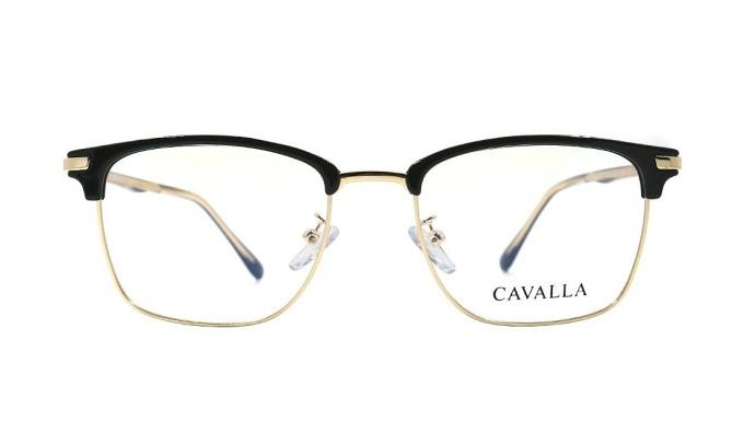 Gọng kính Cavalla -Sarifa 1537 C1 làm từ chất liệu plastic và hợp kim Titanium. Sản phẩm có các màu bạc, xám, đen, nhiều màu, đồi mồi.
