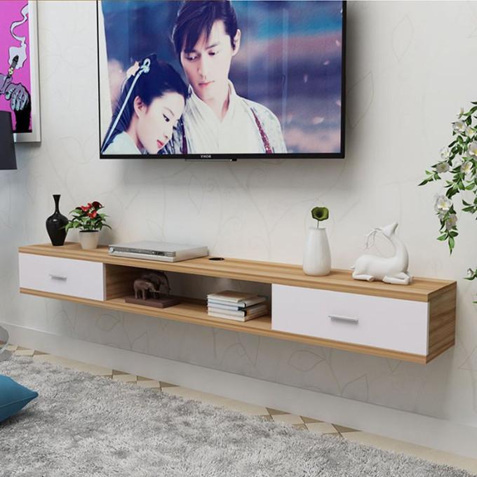 Kệ tivi treo tường tiết kiệm diện tích 2 ngăn kéo vân gỗ sồi phong cách hiện đại - gp110.41 - Gỗ346.000đ (- 23 %)Kích thước :     Chiều dài 1,5m, chiều sâu 25cm, chiều cao 20cmChất Liệu: gỗ Công nghiệp loại cao cấp MDF nhập khẩu được sơn 2k 3 lớp cao cấp bóng mịn, bền màu theo thời gian.Kháng nước tuyệt vời dễ dàng vệ sinh bằng nước.Thiết kế đơn giản nhưng sắc nét, góc cạnh mềm mại, sơn bóng mịn, hiện đại, giúp trang trí nhà thêm ấn tượng tiết kiệm diện tích.Set kệ phù hợp với tivi từ 39 đến 51icnh, chịu lực tới 25kg để đầu thu, Wifi, loa, thiết bị điện thỏa mái. Lắp được cả phòng khách và phòng ngủ.