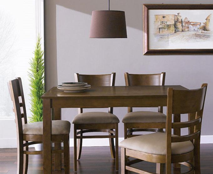 Bộ bàn ăn 4 ghế Ulsan màu Antique - IBIE - Nâu 2.315.700đ (- 40 %)Chất lượng xuất khẩu Hàn quốc.- Chất liệu gỗ cao su tự nhiên bền đẹp.- Mặt bàn gỗ MDF phủ veneer sồi sang trọng.- Kết cấu chắc chắn, gia công tỉ mỉ.- Thiết kế gồm 3 màu tự nhiên, trắng và antique.- Bộ gồm các loại 4, 6, 8 ghế với nhiều kích thước bàn. Giới thiệu bộ bàn ăn 4 ghế Ulsan màu antique Bộ bàn ăn Ulsan gồm 1 bàn và 4 ghế, kích thước vừa đủ để không chiếm quá nhiều diện tích của phòng ăn. Chỉ cần một góc nhỏ với bộ bàn ăn, bạn đã có một bữa cơm gia đình đầm ấm. Thiết kế mang phong cách Hàn quốc rất phù hợp với căn hộ chung cư, đặc biệt là các gia đình trẻ. Tuy đơn giản nhưng bộ bàn ăn này vẫn  mang đến vẻ đẹp sang trọng, tinh tế cho không gian nhà bạn.Bộ bàn ăn Ulsan  với tone màu antique, mang đến sự tinh tế, sang trọng pha lẫn nét hoài cổ. Nệm ghế tối màu cùng tone sẽ là lựa chọn tuyệt vời cho gia đình có trẻ em.Bộ bàn ăn Ulsan được sản xuất trên dây chuyền hiện đại, nhằm đáp ứng các tiêu chuẩn khắt khe của những thị trường xuất khẩu khó tính như Mỹ, Nhật, châu Âu... Nguyên liệu chính là gỗ cao su đã qua chế biến chống cong vênh mối mọt, đạt trình độ thẩm mỹ và có độ bền rất cao.. Ghế có nệm dày, vỏ bọc nệm simily cao cấp tạo cảm giác êm ái, thoải mát cho người ngồi.Bộ bàn ăn Ulsan có 3 màu là trắng, tự nhiên và antique, giúp bạn dễ dàng chọn được màu sắc ưng ý và phù hợp với thiết kế nội thất trong nhà. Ngoài ra, mẫu bàn này có nhiều kích thước từ 1m2 đến 1m8, tạo thành bộ bàn ăn 4 ghế, 6 ghế hoặc 8 ghế, giúp bạn chọn được bộ phù hợp với diện tích và nhu cầu của gia đình mình.CHẾ ĐỘ BẢO HÀNH: 12 tháng. THỜI GIAN GIAO HÀNG: Từ 1-3 ngày