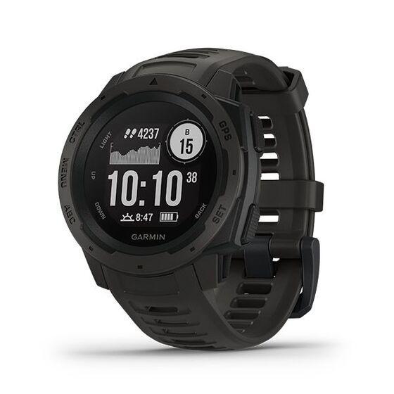 Đồng hồ Garmin Instinct màu đen giá 6,1 triệu đồng; có khả năng chịu nhiệt, chống va chạm và chống nước (lên đến 100 mét); la bàn 3 trục và khí áp kế đo độ cao được tích hợp cộng với nhiều hệ thống vệ tinh điều hướng toàn cầu; theo dõi nhịp tim, hoạt động và sự căng thẳng của bạn... Thời lượng pin lên tới 14 ngày ở chế độ đồng hồ thông minh, lên tới 14 giờ ở chế độ GPS, lên tới 35 giờ ở chế độ tiết kiệm pin UltraTrac (tùy theo cài đặt). Bảo hành 12 tháng.