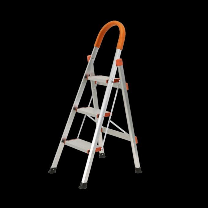 Thang nhôm gấp ba bậc Kachi MK-148 có giá giảm đến 43% còn 899.000 đồng (giá gốc 1,59 triệu đồng). Thang ghế có tay vịn làm từ chất liệu nhôm bền và nhẹ, chịu được tải trọng lớn. Sản phẩm phù hợp với nhiều mục đích sử dụng cho gia đình, căn hộ hay công trình... Mặt ngoài sơn tĩnh điện màu trắng - cam, có thể xếp gọn. Bậc thang rộng giúp người dùng dễ giữ thăng bằng.