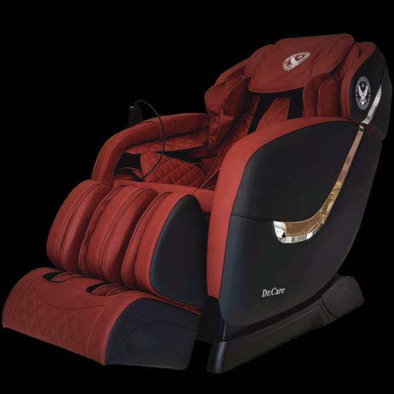 Ghế massage Dr.Care Golfer GF838 màu đen nội thất đỏ -đen31.000.000đ (- 49 %)  trang bị 2 bộ máy massage tân tiến của Dr.Care tại Mỹ (2 máy trong 1 ghế), có tổng cộng 8 tay đấm, tương đương với 4 người xoa bóp đấm lưng cùng lúc. 2 máy massage sẽ giữ chặt, kéo căng, duỗi thẳng cơ thể, cho cảm giác thư giãn. Công nghệ này giúp tăng gấp đôi hiệu quả massage, tiết kiệm thời gian. Sản phẩm bảo hành 5 năm.