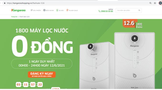 Giao diện website thương mại điện tử mới của Kangaroo.
