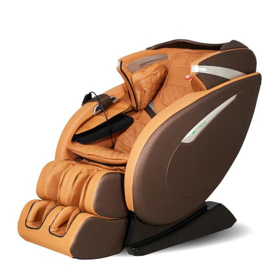 Ghế massage Elip Plutoni màu nâu giảm 11% còn 55,9 triệu đồng; ứng dụng công nghệ massage hình trục L, massage từ vai gáy đến mông. Con lăn massage thế hệ mới nhất giúp loại bỏ căng thẳng, tận hưởng cảm giác thư giãn.
