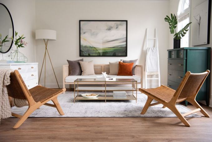 Một chiếc thảm vừa vặn giúp không gian sống đẹp hơn khi lên ảnh.