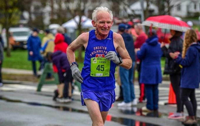 Gene Dykes tại Giải vô địch quốc gia USATF 10K Road ở Dedham, Massuch Massachusetts, ngày 29 tháng 4 năm 2018. Ảnh: lịch sự của Gene Dykes