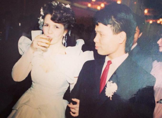 Đám cưới của hai vợ chồng được tổ chức năm 1990 tại thành phố Kiev, khi đó vẫn thuộc Liên Xô cũ. Ảnh: Nhân vật cung cấp.