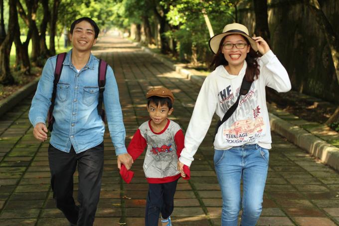 Lê Nguyệt, 36 tuổi, cùng chồng 39 tuổi và con trai 10 tuổi đã sống cuộc đời không lo tiền bạc từ 4 năm trước - khi họ tự do tài chính. Ảnh:Nhân vật cung cấp.