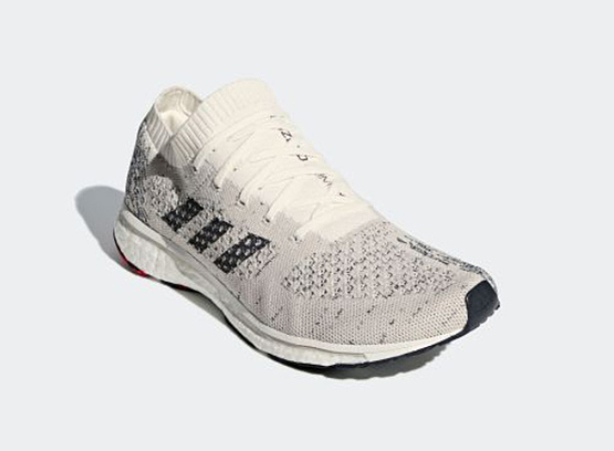Giày chạy bộ Adidas Adizero Prime Boost Ltd BB6574 giảm còn 2,59 triệu đồng (áp dụng giảm thêm voucher 500.000 đồng, còn 2,09 triệu đồng); phần thân trên (upper) sử dụng vật liệu PrimeKnit. Lưỡi gà của giày liền với cổ giày.  Đế giày sử dụng cao su continental, giúp giày luôn bám đường và chống mài mòn.