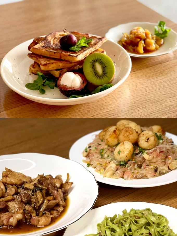 Some beautiful dishes cooked by Mr. Son himself during the days of separation.  Photo: NVCC.