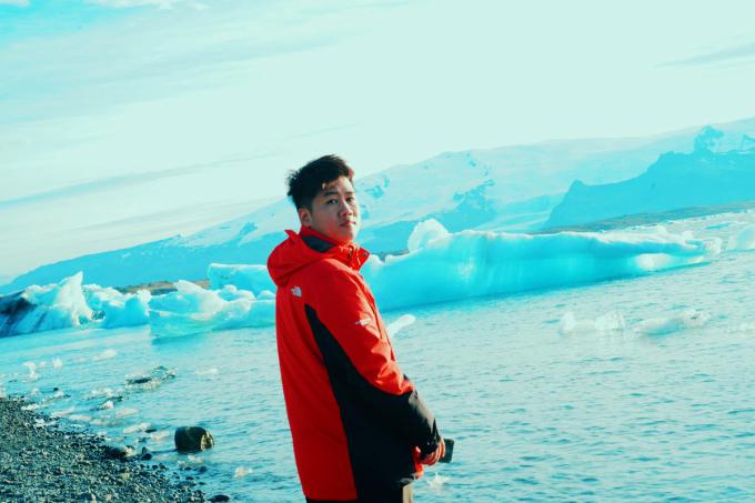 Thanh Tùng trong chuyến du lịch Iceland vào năm 2019. Ảnh: Nhân vật cung cấp.